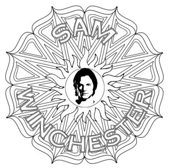 Sam Winchester Supernatural Mandala