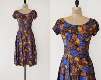 Prima Dress / 1950s silk dress / vintage Suzy Perette Dress