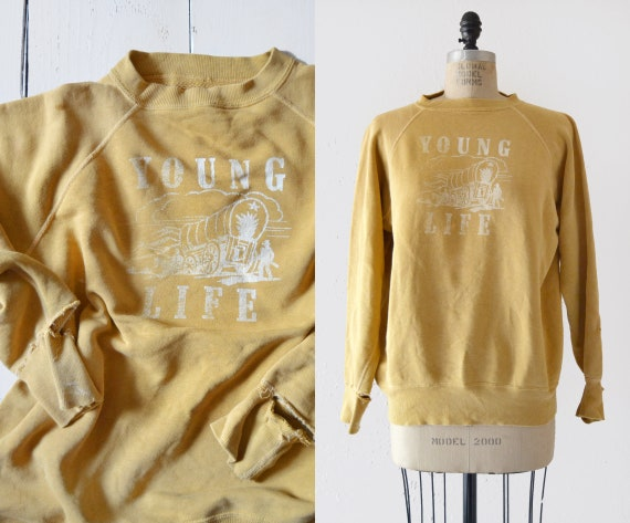 1950s Young Life Sweatshirt / vintage sportswear p