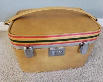 60/'s Ventura Geometric Pattern Jacquard Bag Mid Century Design and Color by Ventura Vintage Suitcase Vintage Ventura Luggage