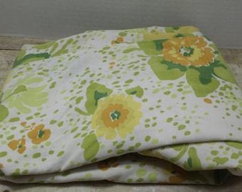 Twin Flat Sheet, Vintage bedding, vintage sheets