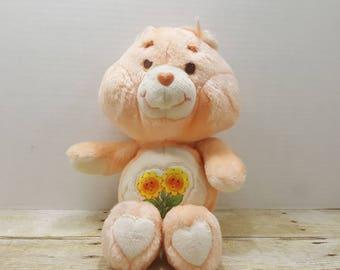Friend Bear, 1983 Care Bear Plushie, stuffed animal, 1980s toys