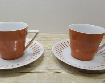 Mid Century cups and saucers, Harmony House Ensenada  pattern 3904 Hard to find