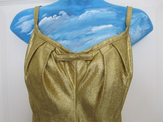 1950s GOLD LAME Bathing Suit By COLE