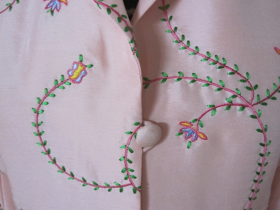 PINK EMBROIDERED SILK Coat - image 2
