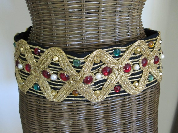 1940's BEADED BRAIDED Costume BELT