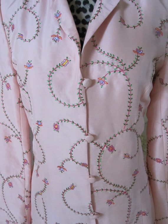 PINK EMBROIDERED SILK Coat - image 3