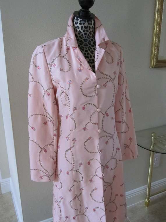 PINK EMBROIDERED SILK Coat - image 4
