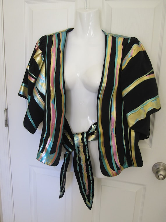 OOAK HANDPAINTED JACKET & Matching Belt