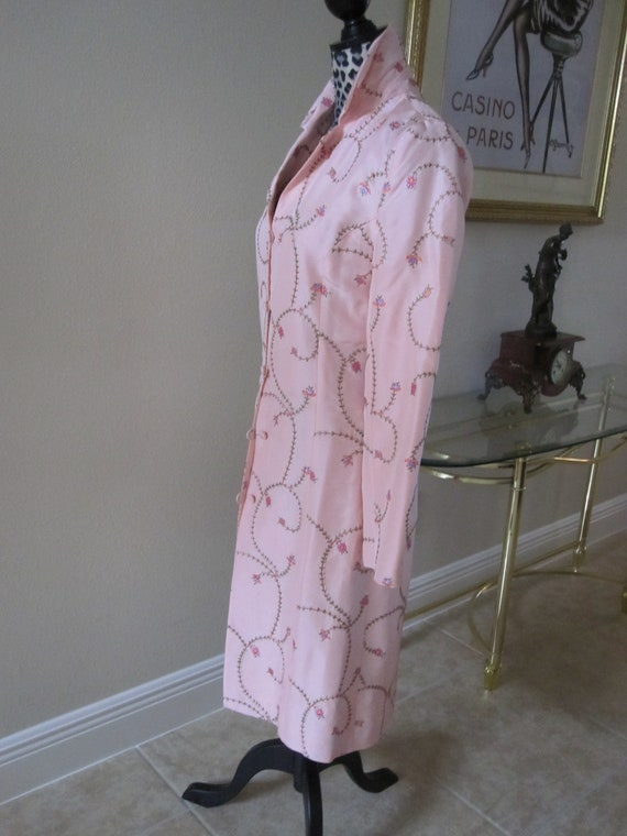 PINK EMBROIDERED SILK Coat - image 10