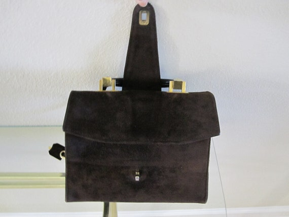 3382b6e3b5 NEUSTETERS SUEDE LEATHER Handbag Made In France