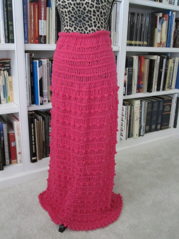 HOT PINK KNITTED Skirt