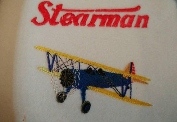 Custom Stearman Plane Embroidered Polo Shirts White Black Or Etsy