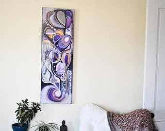 Abstract Intuitive Painting | Original Abstract Painting | Uplifting Painting | Good Vibes Painting | Hearts and Flowers Art | Abstract Art