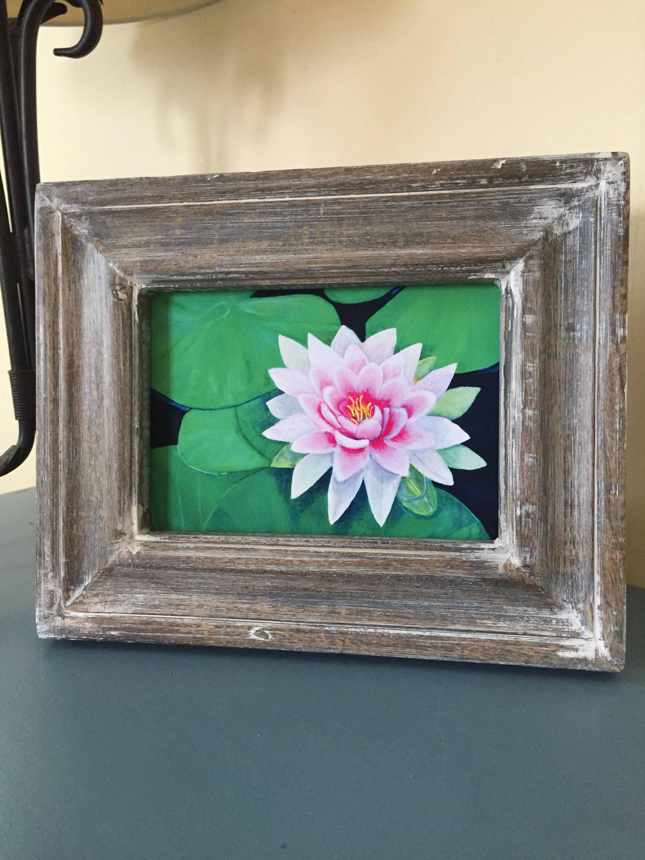 Pink Lotus Flower Artwork Peaceful Lotus Art Lotus Wall Etsy