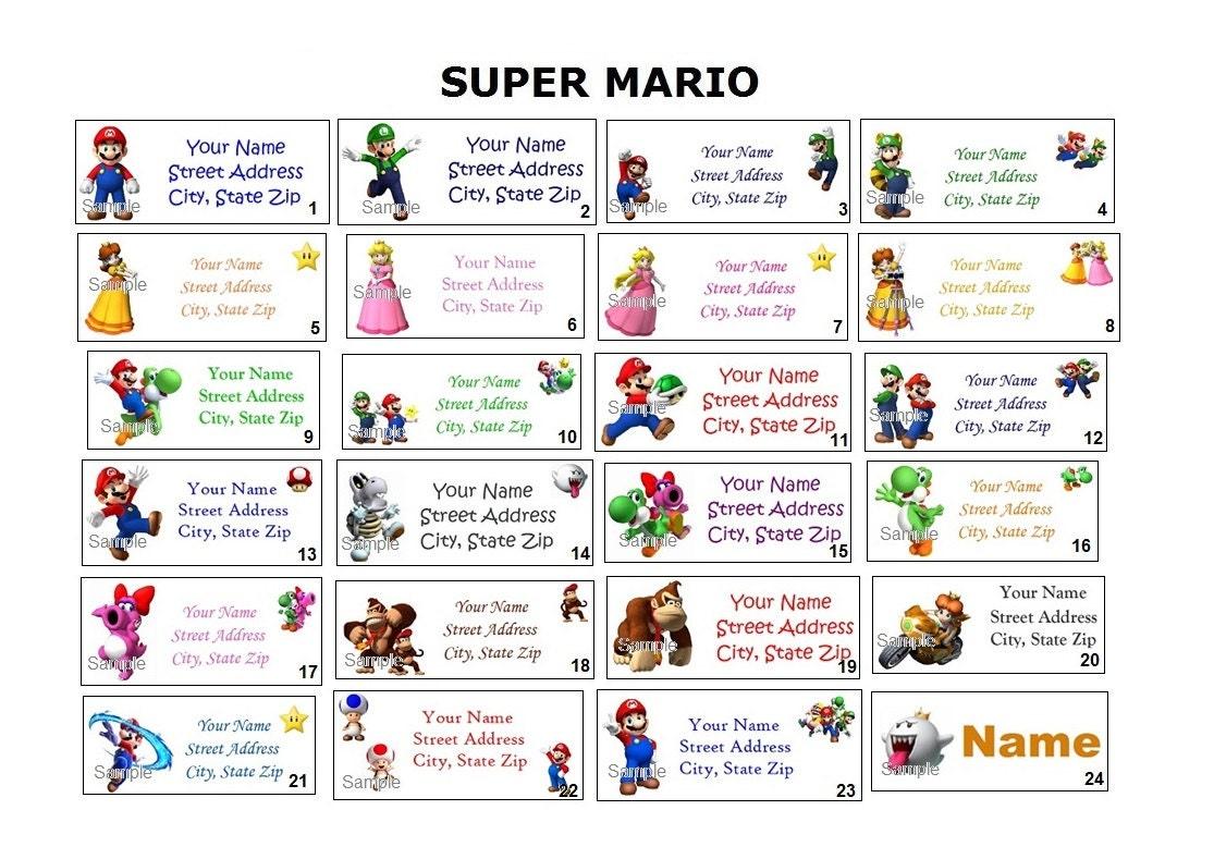 LINDO Super Mario Bros Luigi Yoshi retorno dirección fiesta y | Etsy