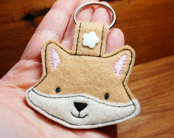 Fox Snap Tab Key Ring