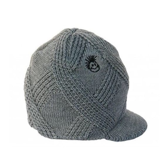cf8d759e3d8 Knuckleheads Gray Visor Beanie Toddler Kid