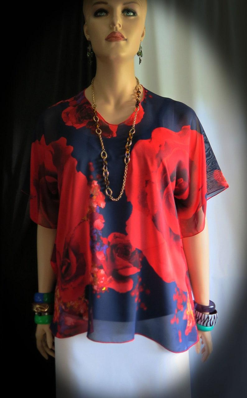 5f3095e16f51c The Rose Sheer Cover-up Hawaiian Polynesian Clothing | Etsy