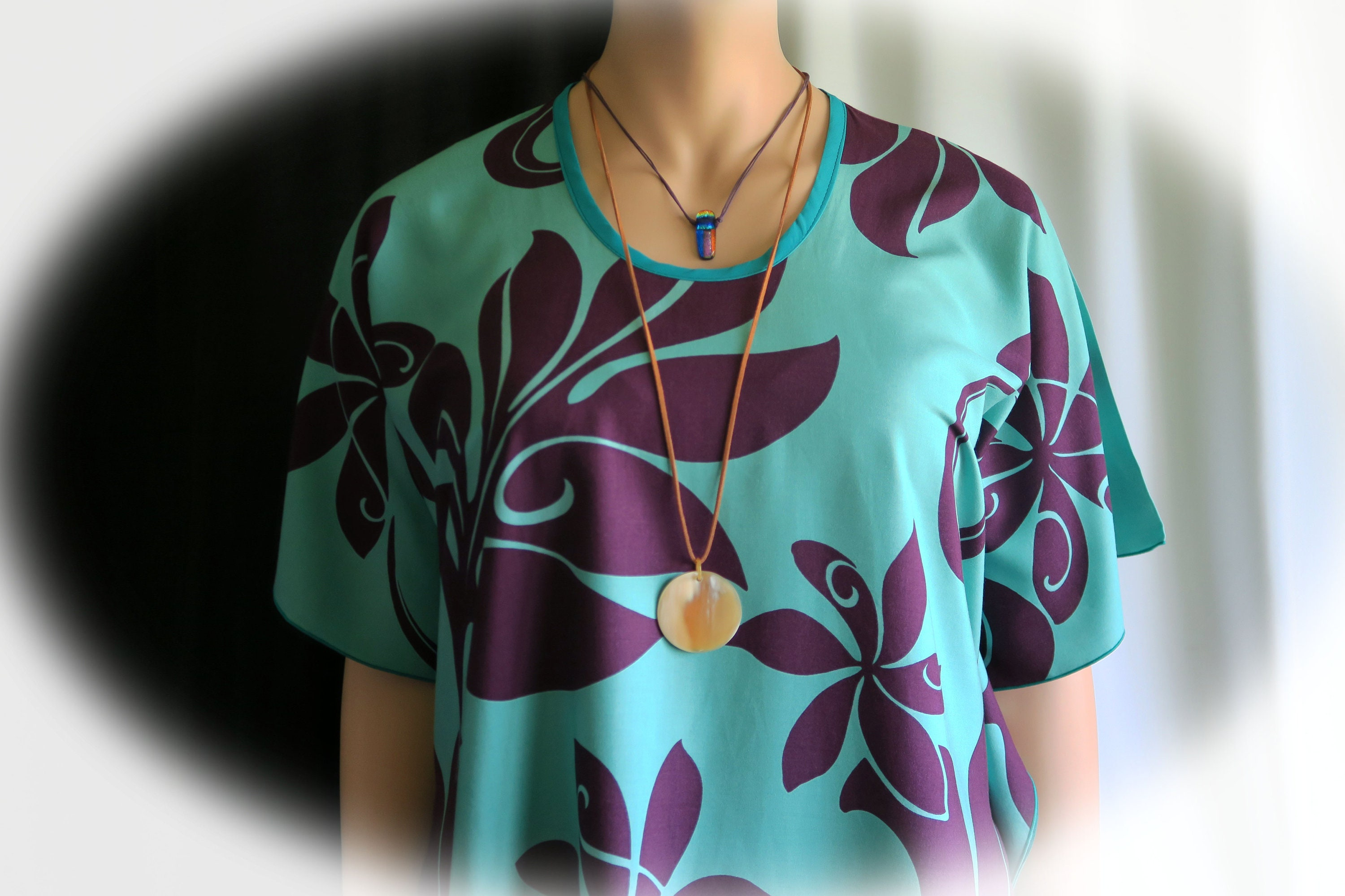 e43e5f7656a67 Violet Teal Forest Hawaiian Polynesian Clothing Woman's | Etsy