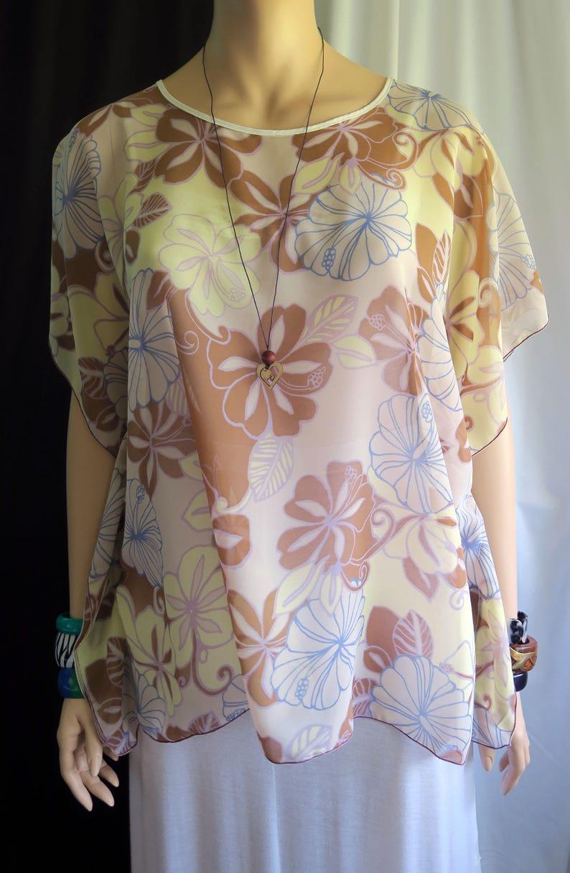 a48917796f9e8 Sheer Cover-up Hawaiian Mocha Gold Polynesian Women's | Etsy