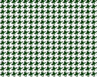 Hunter Houndstooth Fabric --- 100 Percent Cotton --- Fabric By The Yard