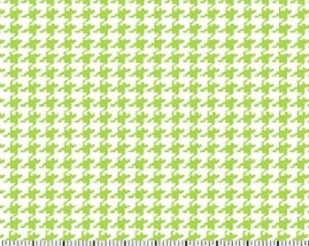 Lime Houndstooth Fabric --- 100 Percent Cotton --- Fabric By The Yard