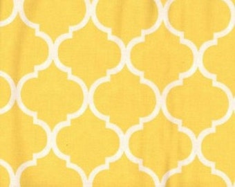 Quatrefoil Fabric ~ Yellow Quatrefoil Fabric ~ Fabric By The Yard ~ Moroccan or Geometric Style Fabric