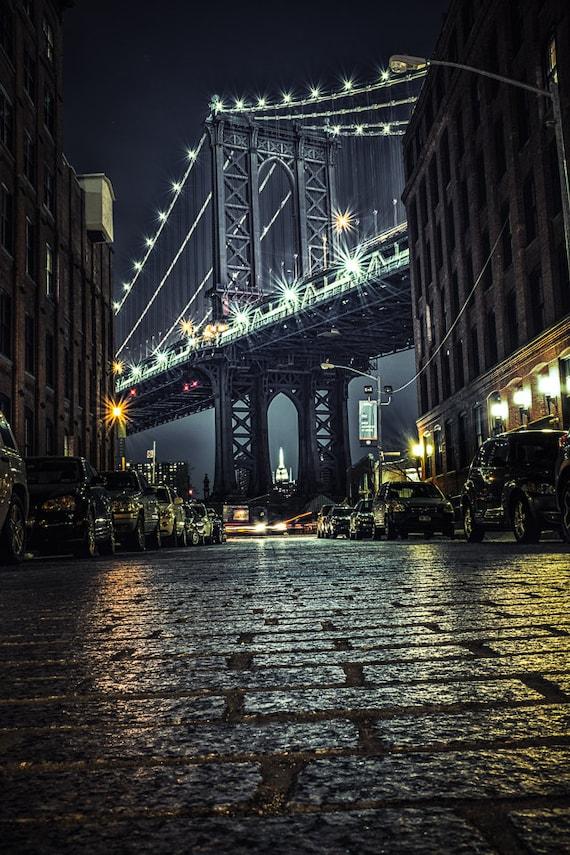 NYC Photography Manhattan Bridge New York Art Print NYC