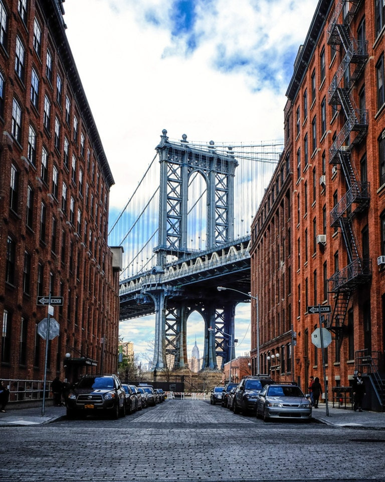 New York Photography Manhattan Bridge Color Photograph View Etsy