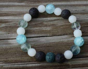 Lava bead bracelet for essential oils