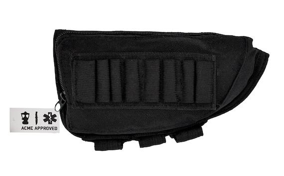 Black Acme Approved Shotgun Buttstock Cheek Rest Ammo Pouch