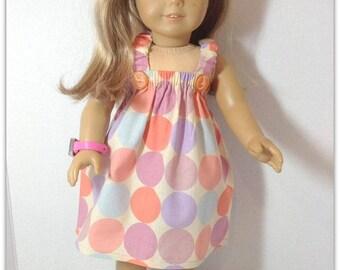 """Handmade,American Girl Doll Dress,18"""" Doll Dress , Cotton,Dress,Sundress,Easy for little hands,Sundress,Doll Dress"""