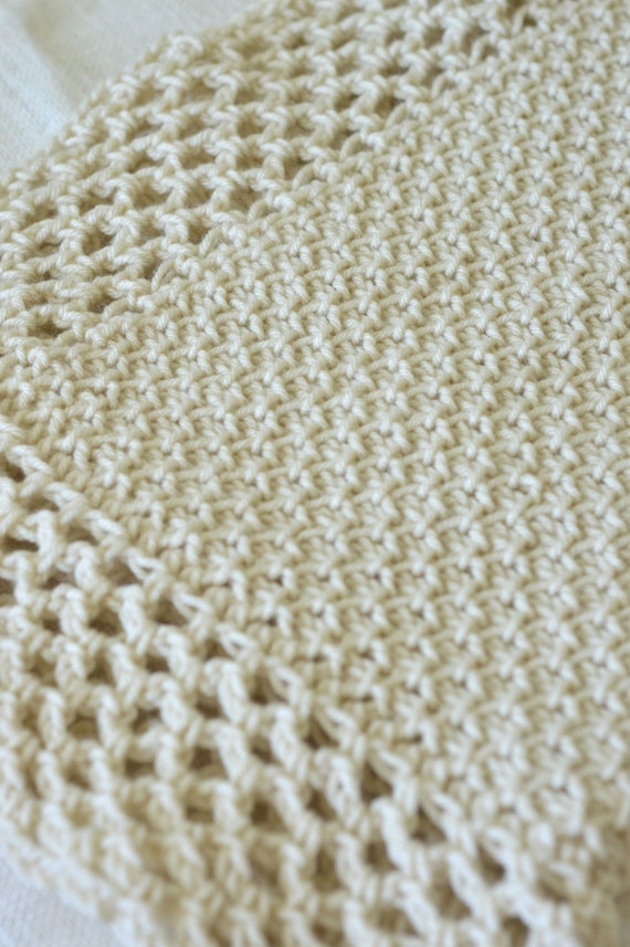 Tunisian Crochet Blanket Pattern Baby Afghan Pattern Vintage Etsy