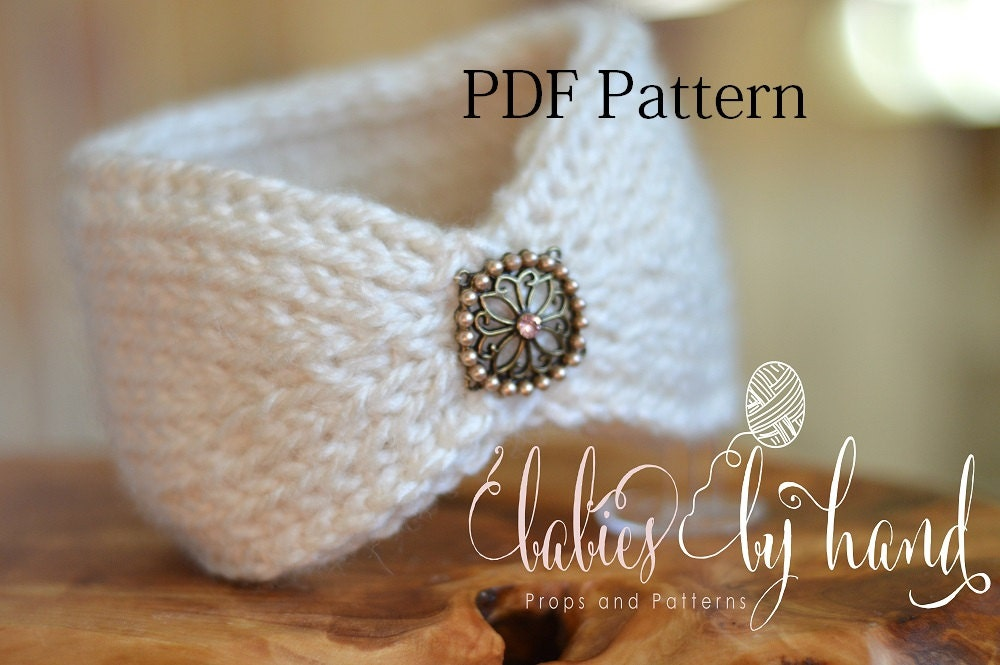 Tunisian Crochet Headband Pattern Baby Crochet Headband Etsy