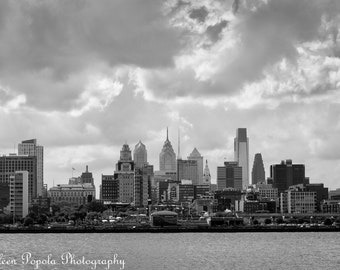 Clouds Over Philadelphia - Black and white print