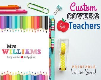 CUSTOM Teacher Planner Cover, Binder Cover, Printable Cover, Printable Planner, Teaching, Back to School, Education, Lesson Planner