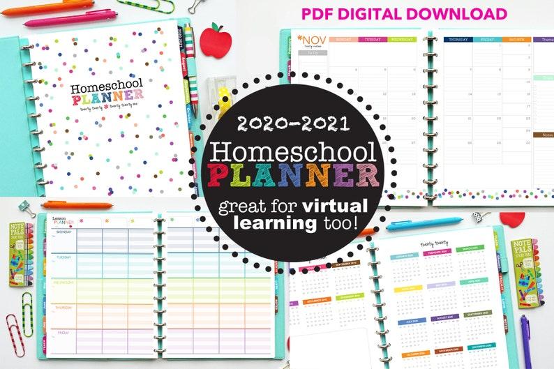 2020-2021 Homeschool Planner // Printable Planner Inserts ...