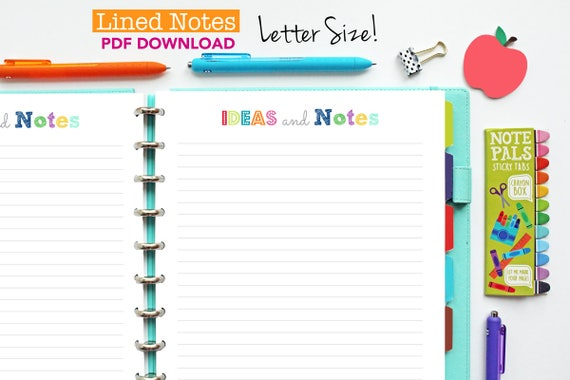 photo relating to Printable Notes Page referred to as Protected Notes Web site // Printable Planner Inserts - PDF Down load // Unique Planner, Home Binder, Large Joyful Planner, 2019