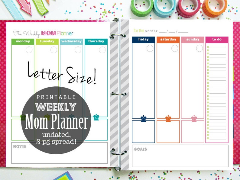 graphic about Mom Planner Printable identify Weekly Planner, Mother Planner, Printable Planner, Planner Internet pages, Menu Planner, Day by day Planner, Loved ones Binder
