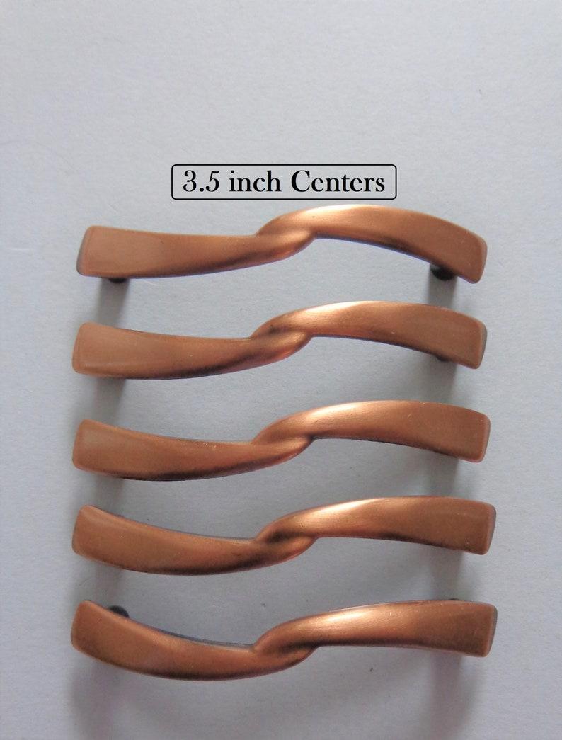 18b453df7cd Antique Copper Pulls 3.5 in Centers 5 Cabinet Dresser