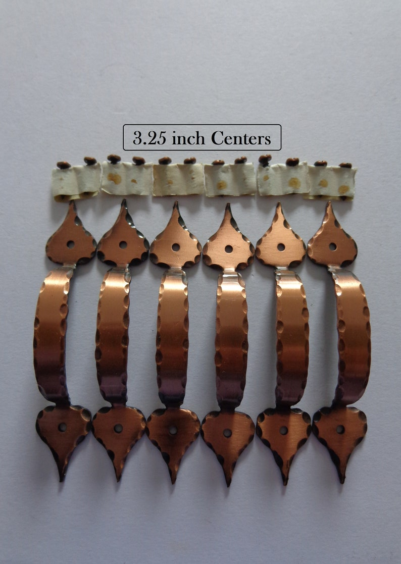 83cf78744f5 Antique Copper Colonial Pulls 3.25 in Centers 6 Cabinet