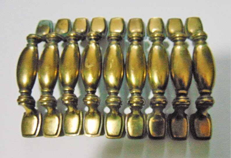 Drawer Pulls Hardware N 1 5736 Vintage gold Pulls Cabinet 9 Antique Brass KBC Dresser Handles 3 in centers come with screws
