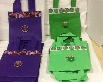 Character Mini Totes Set of 6