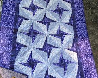 Purple Pinwheel Quilt