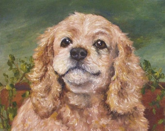 "Pet Portrait - Custom Painting in Acrylics on Canvas or Pastel-Original Dog Art 20""x24"""