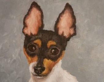 "PET PORTRAIT - Custom Painting-Original Dog Art in Acrylics or Pastel-11"" x 14"""