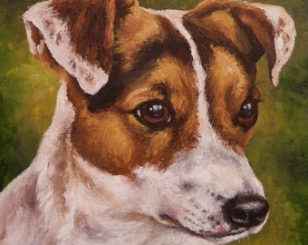 "Pet Portrait - Custom Painting- Original Dog Art in Acrylics or Pastel-11"" x 14"""