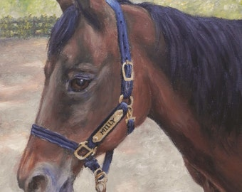 "PET PORTRAIT - Custom Pet Painting in Acrylics or Pastel-Original Horse Art 16"" x 20"""