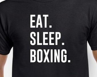 Boxer Shirt-Eat Sleep Boxing T Shirt Boxer Gift Men Women
